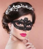 Карнавальная маска ткань джаз